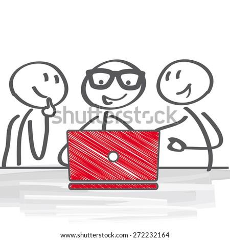 Business people Having Meeting - stock vector