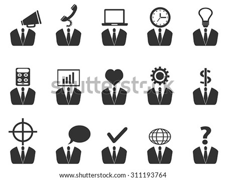 business people idea icons set - stock vector