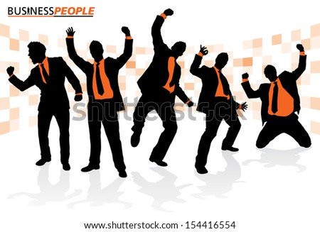 Business People in Successful Poses Business People is a new series of High End business graphics that are updated every month. Each Element is placed on a separate layer for easy to use editing.  - stock vector