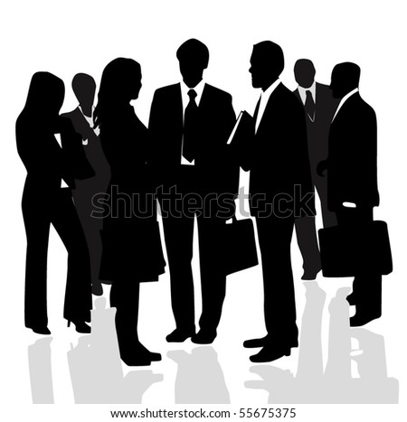 Business people isolated on white