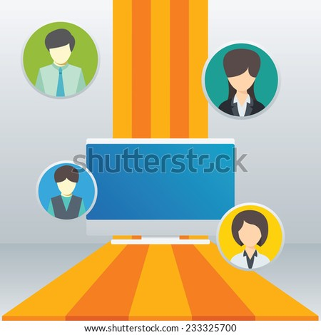 Business people man and woman icon elements , Teamwork concept - Vector illustration - stock vector