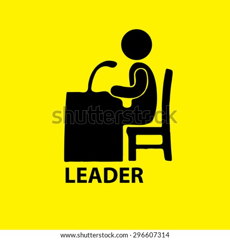 Business people. Office icons - stock vector