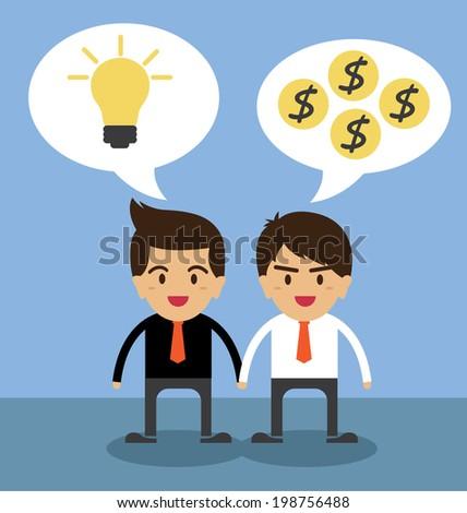 Business people shaking hands - stock vector
