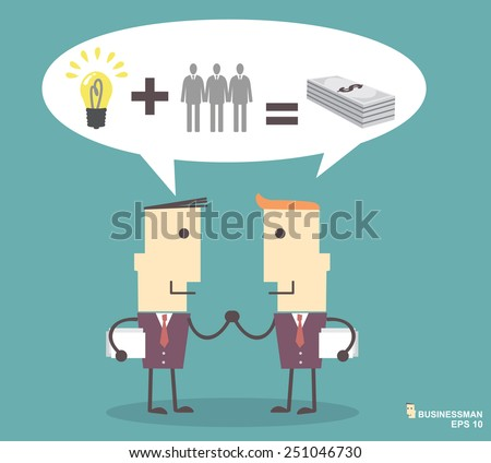Business people shaking hands illustration vector file eps10.success concept - stock vector