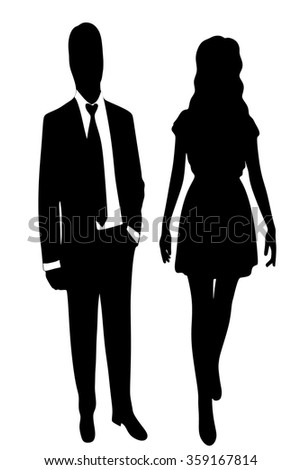 business people standing  - stock vector