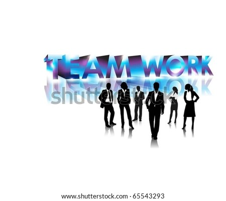 business people team - stock vector