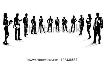 business people, teamwork silhouettes