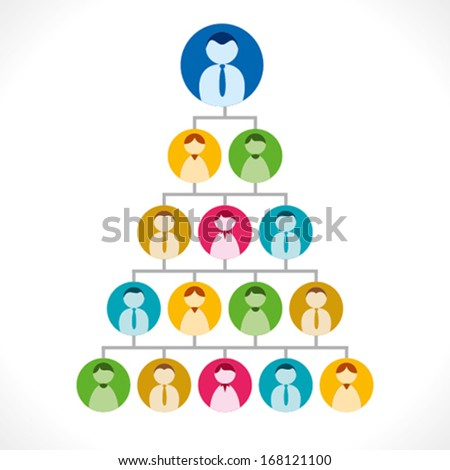 business people tree, hierarchy of people, marketing concept vector - stock vector