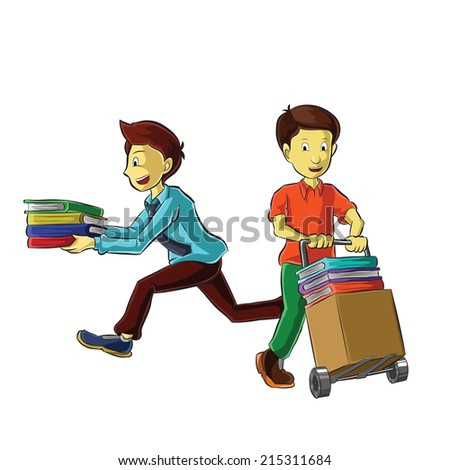 Business people with working busy - stock vector