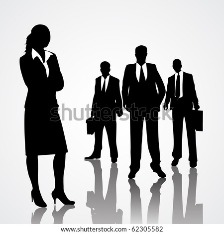 Business peoples - stock vector