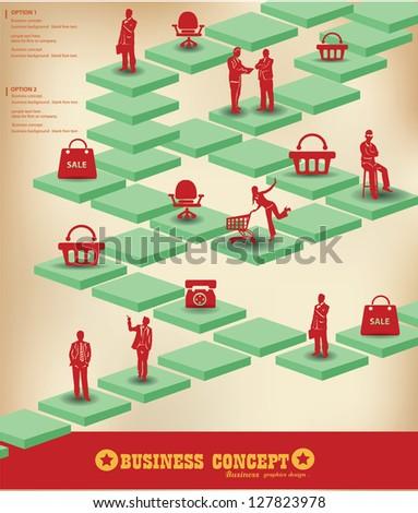 Business peoples graphics design,vector - stock vector