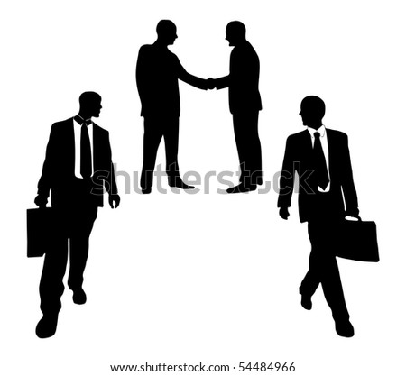 Business peoples in white background