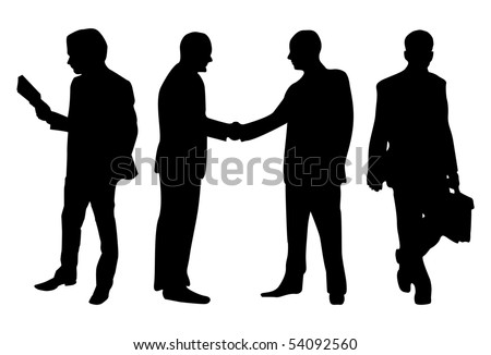 Business peoples isolated in white background - stock vector