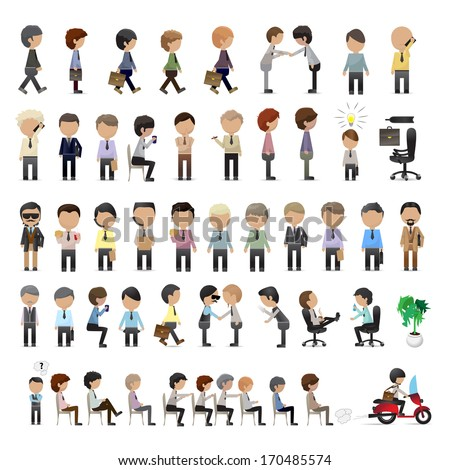 Business Peoples - Isolated On White Background - Vector Illustration, Graphic Design Editable For Your Design. - stock vector