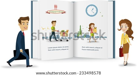 Business peple infographic.vector illustration - stock vector
