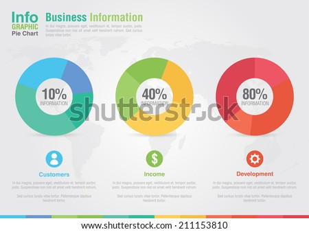 Business pie chart infographic. Business report creative marketing. Business success. - stock vector
