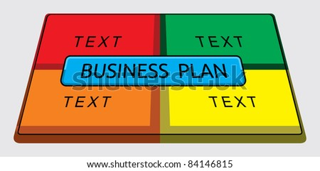 Business pie graph - stock vector