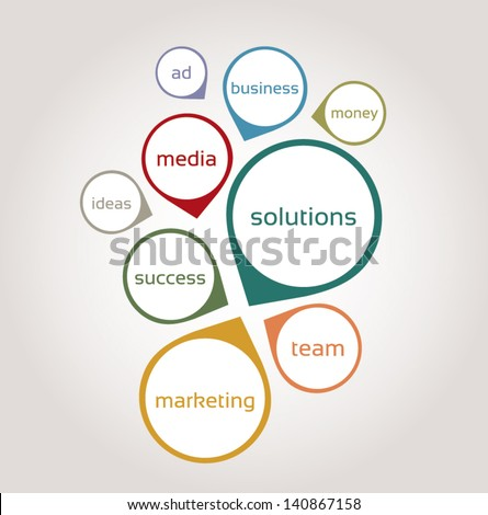 Business plan - stock vector