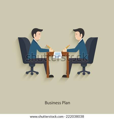 Business plan concept design,clean vector - stock vector
