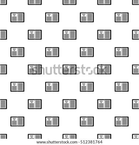 Business plan pattern. Simple illustration of business plan vector pattern for web