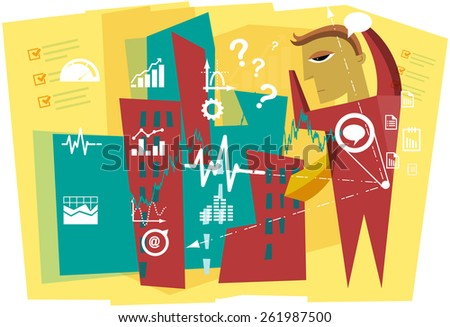 Business Planning Illustration - stock vector