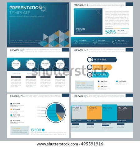 Business Power Point Template Presentation Infographic Stock Vector
