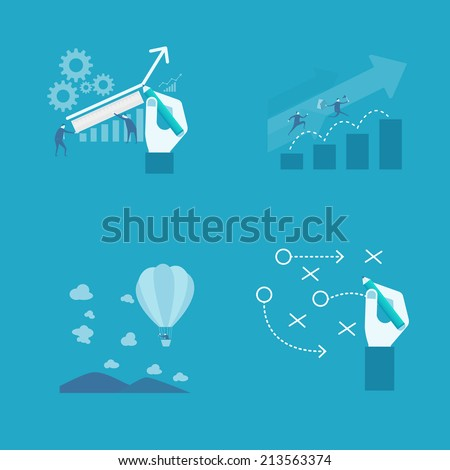 Business presentation  - stock vector