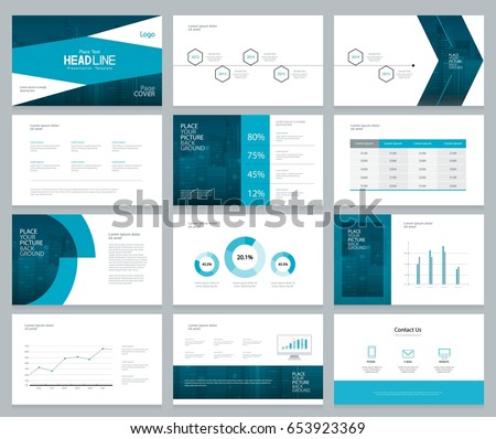 business presentation design template page layout stock vector, Powerpoint templates