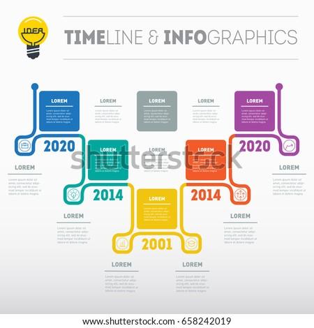 Business Presentation Timeline Concept Options Stock Vector - Timeline website template