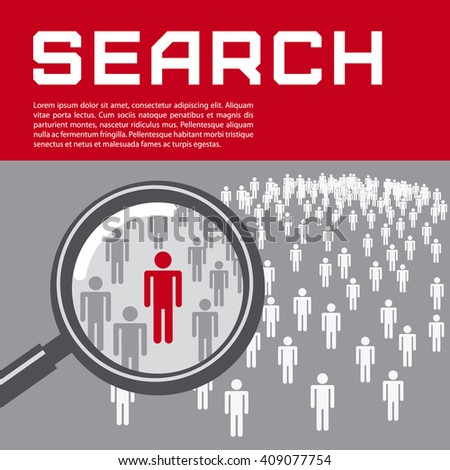 Business presentation - people search. Vector illustration.  - stock vector