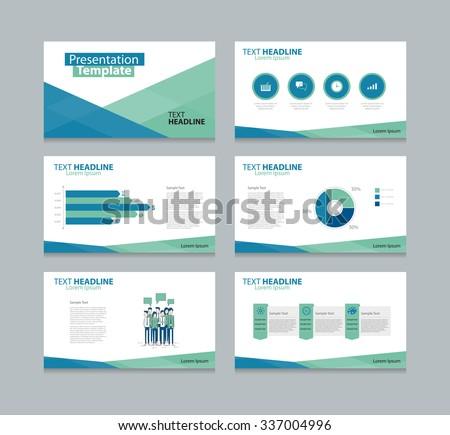 business presentation slide template design flat stock vector, Presentation templates