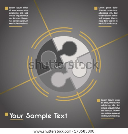 Business presentation template - stock vector