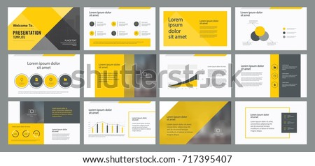 business presentation template design and page layout design for brochure book magazineannual
