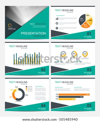 Blue Triangle Presentation Templates Infographic Elements Stock