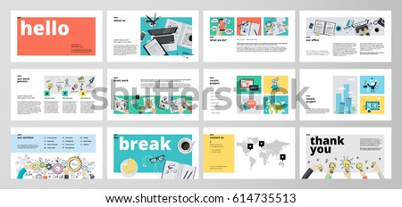 Business presentation templates flat design vector stock photo business presentation templates flat design vector infographic elements for presentation slides annual report cheaphphosting Image collections