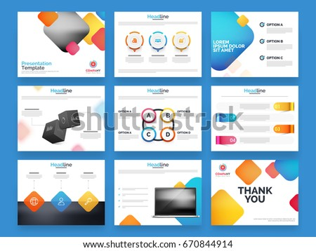 Business Presentation Templates With Glossy Infographic And Abstract  Elements. Creative Flyer, Leaflet, Professional