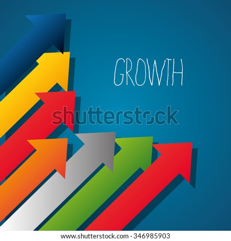 Business profits growth graphic design, vector illustration eps10