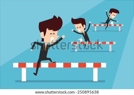 Business race  - stock vector