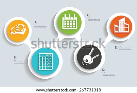 Business,real estate info graphic design,clean vector - stock vector