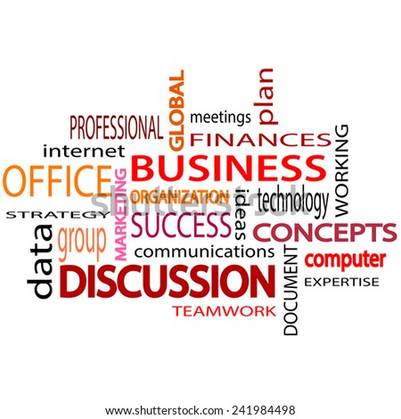 Business related words text. White  background. Vector illustration. - stock vector