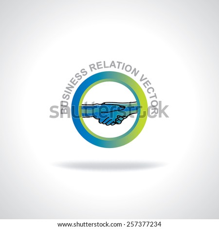 business relation concept idea  shake hand - stock vector