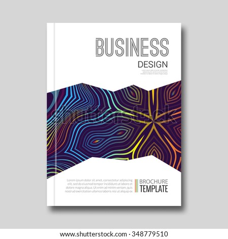 Business report design background with rainbow lines design. Cover Magazine Flyer vector illustration - stock vector