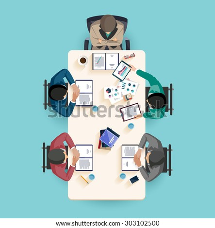 Business report. Flat design. - stock vector
