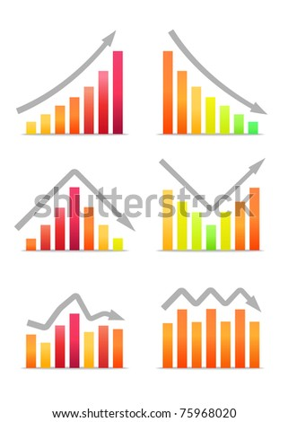 Business revenue charts - stock vector