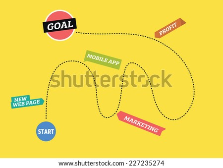 Business roadmap - stock vector