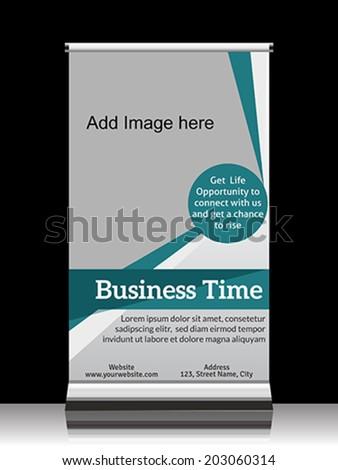 Business roll up banner vector illustration  - stock vector