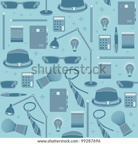 Business seamless background, vector