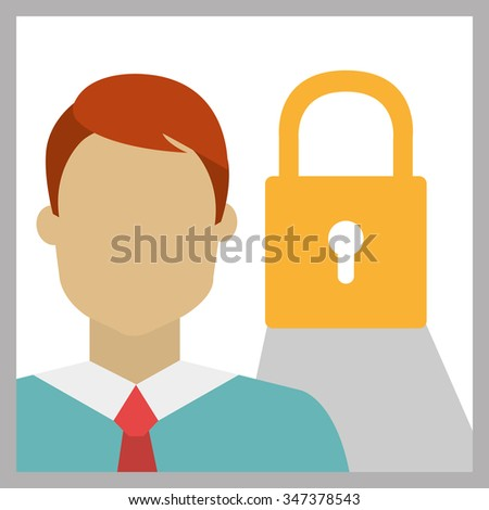 Business security graphic design, vector illustration eps10