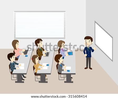 Business seminar - stock vector