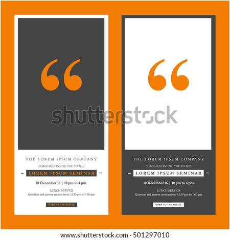Business seminar invitation design template with stock vector business seminar invitation design template with time date and venue details accmission Images